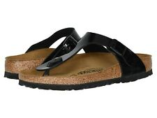 Birkenstock Womens Gizeh Patent Leather  Black , Size 38