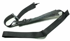 AIRSOFT gun aeg SLING DUAL DOUBLE POINT STOCK LEATHER ADJUSTABLE BLACK strap