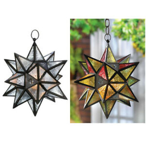 You Choose Color - Hanging Multi-Point Star Candle Lantern