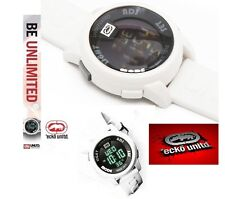 MARC ECKO MEN'S RUBBER BAND DIGITAL WHITE LCD WATCH E07503G2