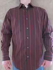 JERRY GARCIA Mens Striped Long Sleeve Button Front Size  MEDIUM Shirt NWT