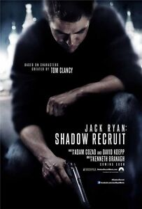 Jack Ryan Shadow Recruit DOUBLE SIDED ORIGINAL MOVIE Film POSTER Chris Pine