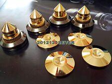 4Set Hifi 28mm Speaker Spike Isolation Feet Brass Cone Stand Base