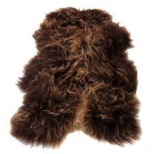 véritable Islandais Marron Tapis peau de mouton