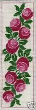 Grille point de croix -  MARQUE-PAGE - PIVOINES - réf : 6510