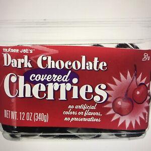 Trader Joe's DARK CHOCOLATE COVERED CHERRIES 12 oz