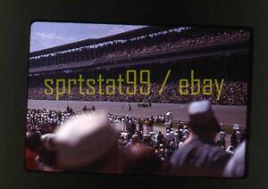 1963 Indianapolis 500 Race Scene & Checkered Flag - Vintage 35mm Race Slide