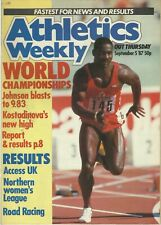 ATHLETICS WEEKLY MAGAZINE – IAAF WORLD CHAMPIONSHIPS 1987 ROME – TRACK & FIELD