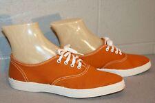 5 Nos Vtg 70s LaCrosse Pointed Toe Dark Gold Canvas Tennis Sneaker Gym Shoe