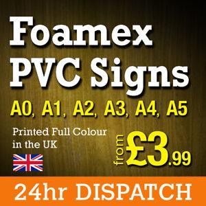 Foamex Foam Board Signs Rigid PVC Printing Full Colour