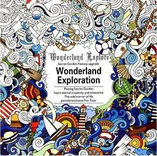Fantasy Dream Based on Alice in Wonderland Inky English Painting Coloring Book