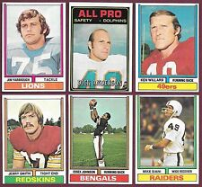 1974 & 1975 Topps Football 2/$1.00 Commons Semi-Stars You Pick Complete Your Set