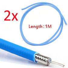 2pcs 1m RG402 RF Coaxial Cable Connector Semi-rigid RG-402 Coax Pigtail 3ft