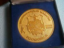 INTERNATIONAL MARATHON MEDAL MONTENEGRO PODGORICA YUGOSLAVIA SPORT RUN RUNNING
