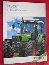 VINTAGE 1993 FENDT FAVORIT 510C,512C,514C TRACTOR 12 PAGE BROCHURE (FRENCH TEXT)