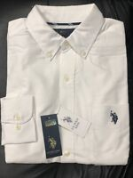 U.S. Polo Assn. Men's Classic Fit Long Sleeve Solid White Oxford Shirt
