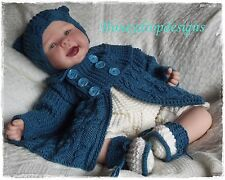 Honeydropdesigns * JASPER * PAPER KNITTING PATTERN * Reborn/Baby (3 Sizes)