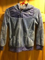 The North Face Girls Blue Oso Soft Fleece Hooded Jacket Coat Medium M 10 12 Y
