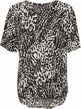 Viscose Animal Print Crew Neck Other Women's Tops