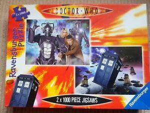 2 x 1000 Piece Jigsaw Puzzles Dr Who Tardis / Cybermen - Ravensburger