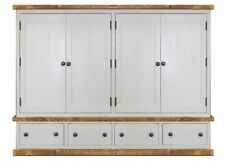 Painted Rustic Quad Wardrobe. Plank Bedroom Furniture. Any Size Made.