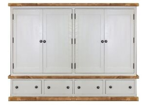 Handmade Rustic Quad Wardrobe. Painted Bedroom Furniture. Any Size Made.