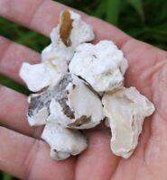 RAW NATURAL WHITE OPAL CHUNKS. HEALING CRYSTAL.