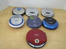 Lot 7 Portable Cd Players - not working - for parts 3 Panasonic, 2 Rca and other