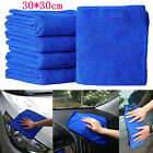 2X 30* 30cm Blue Absorbent Wash Cloth Car Auto Care Microfiber Cleaning Towel