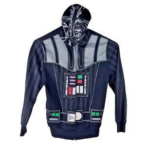 Star Wars Darth Vader Jacket Men's Hooded Long Sleeve Full Zip Sweater Medium