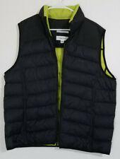 Calvin Klein Down Puffer Vest Black/Green Full-Zip size Large