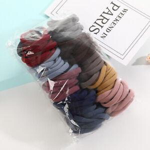 100Pcs Women Lady Hair Band Ties Rope Ring Elastic Hairband Ponytail Holder