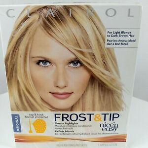 Clairol Frost & Tip Nice N Easy Blonde Highlights Kit New in Box Cap Hook