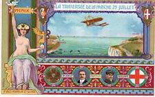 First Cross Channel Flight Bleriot Anzani 1909 by V Mellone