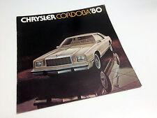 1980 Chrysler Cordoba 2 door Brochure