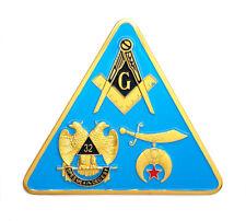 """Shriners, Masonic, Scottish Rite triangle car emblem 3"""" peel & stick # CTRI"""
