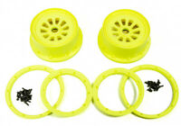 Losi LOSB7035 Wheel Set w/Beadlocks Yellow (2)  For LOSI 5IVE-T /Desert Buggy XL