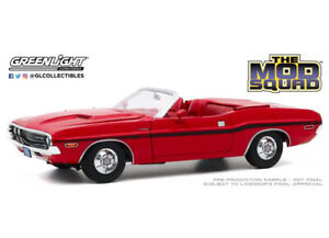 The Mod Squad 1970 Dodge Challenger R/T Red Convertible 1:18 Diecast Car