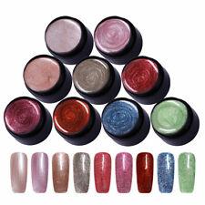 9 Colors/Set Rose Gold Glitter UV Gel Nail Polish Red Blue UV LED Gel Varnish