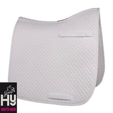 HyWITHER Competition Dressage Saddle Pad – Saddle Cloth – WHITE – COB/FULL