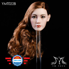 "1/6 Asian Beauty Female Head Sculpt BROWN HAIR for 12"" PHICEN TBL Figure Doll"