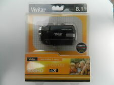 "Vivitar DVR808HD-BLK Digital Video Camcorder - 8.1MP  HD  1.8"" LCD  4x Zoom"