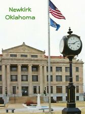 Postcard Oklahoma OK Newkirk Kay County Courthouse Unused MINT