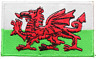 Wales National Flag Embroidered  Iron on / Sew On Patches Badges