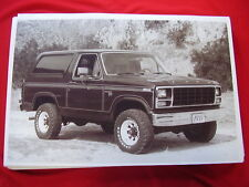1980 FORD BRONCO  11 X 17   PHOTO   PICTURE