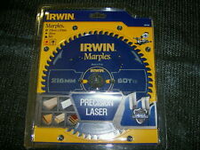 Irwin 1897455 Marples Circular Saw Blade 216 x 30mm x 60T ATB/Neg M