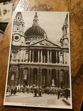 """TUCK'S """" ST.PAULS CATHEDRAL WEST FRONT """"  PHOTOGRAVURE POSTCARD"""