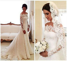 New white/ivory wedding dress bridal gown custom size 6-8-10-12-14-16-18-20+++++