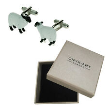 Mens Sheep Farm Animal Novelty Cufflinks & Gift Box By Onyx Art