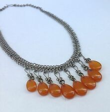 Natural Handmade Vintage Baltic Amber Drops Necklace 26g